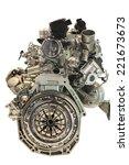 closeup of modern car engine ... | Shutterstock . vector #221673673