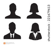 Set Of Vector Men And Women...