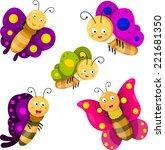 illustrator of butterfly... | Shutterstock .eps vector #221681350