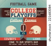 college playoffs football game... | Shutterstock .eps vector #221683084