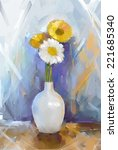 Oil Painting Still Life Bouquet ...