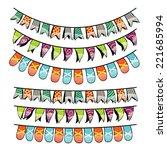 vector illustration of party... | Shutterstock .eps vector #221685994