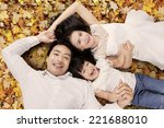 high angle view of asian family ... | Shutterstock . vector #221688010