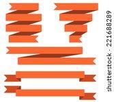 red banner flat design isolated ... | Shutterstock .eps vector #221688289
