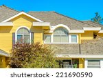 the roof of the house with nice ... | Shutterstock . vector #221690590