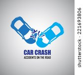 car crash and accidents icons | Shutterstock .eps vector #221693806