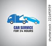car towing truck. | Shutterstock .eps vector #221693959
