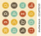 electronic appliances web icons ... | Shutterstock .eps vector #221695210