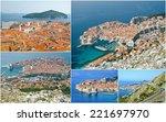 collage of dubrovnik croatia | Shutterstock . vector #221697970