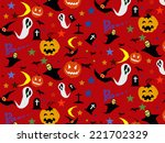 halloween seamless pattern... | Shutterstock .eps vector #221702329