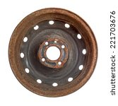Rusty Steel Rim Isolated Over...