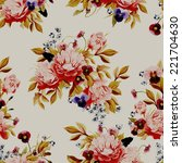 seamless floral pattern with... | Shutterstock . vector #221704630