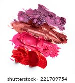 smudged lipsticks isolated on... | Shutterstock . vector #221709754