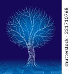 tree consist of binary code.... | Shutterstock .eps vector #221710768