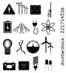 power energy icons set | Shutterstock .eps vector #221714536