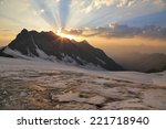 Glacier In The Mountains Of...