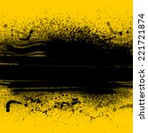 Yellow Grunge Background With...