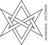 unicursal hexagram  kabbalah  ... | Shutterstock .eps vector #221724634