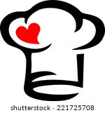 chef s hat  heart  cooking with ...   Shutterstock .eps vector #221725708