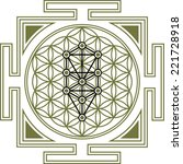 flower of life  tree of life ... | Shutterstock .eps vector #221728918