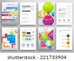 set of flyer  brochure design... | Shutterstock .eps vector #221733904