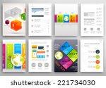 set of flyer  brochure design... | Shutterstock .eps vector #221734030