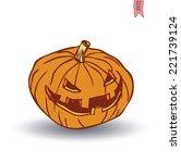 jack o lantern halloween... | Shutterstock .eps vector #221739124