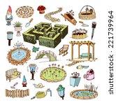 gardening element decorations ... | Shutterstock .eps vector #221739964
