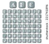 flat alphabet floral ornament... | Shutterstock . vector #221741896