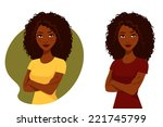 beautiful african american... | Shutterstock .eps vector #221745799