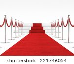 red carpet and rope barrier | Shutterstock . vector #221746054