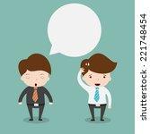 businessmen discussing.vector...   Shutterstock .eps vector #221748454