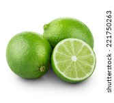 limes with half isolated on... | Shutterstock . vector #221750263