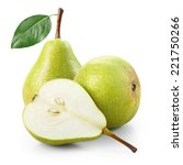 pears with half isolated on... | Shutterstock . vector #221750266