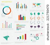 set of  infographic design... | Shutterstock .eps vector #221750470
