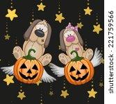 halloween illustration two... | Shutterstock .eps vector #221759566