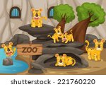 illustration of a zoo and tiger ... | Shutterstock .eps vector #221760220