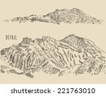 contours of the mountains high... | Shutterstock .eps vector #221763010