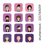 set of people icons in flat... | Shutterstock .eps vector #221765059