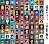 set of people icons in flat... | Shutterstock .eps vector #221765080