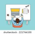vector illustration of network... | Shutterstock .eps vector #221766100