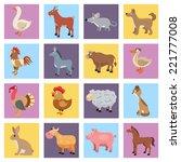 farm animals livestock and pets ... | Shutterstock .eps vector #221777008