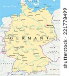 Germany Political Map With...