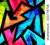 neon geometric seamless pattern ... | Shutterstock .eps vector #221778718