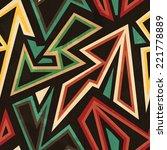 tribal geometric seamless... | Shutterstock .eps vector #221778889