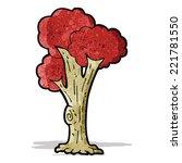 cartoon tree in fall   Shutterstock .eps vector #221781550