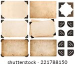 photo corner  old photo card ... | Shutterstock . vector #221788150