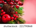 christmas decorations on the...   Shutterstock . vector #221790868