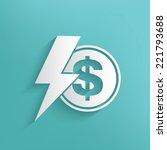 money symbol on blue background ...