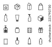 packaging icons  mono vector...